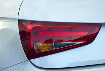 red backlight of a new car