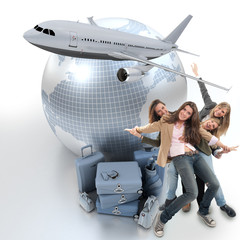 Girls travelling abroad