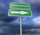 Fototapety Street Road Sign Bandwagon
