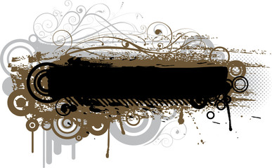 Abstract grunge brush design
