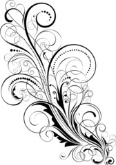 Abstract floral swirl design