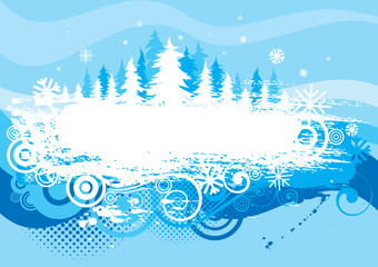 Winter background grunge design