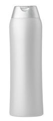 Silver shampoo bottle isolated on white