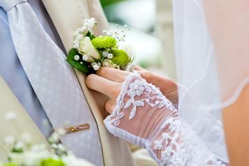 Свадебная бутоньерка