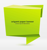 Fototapety Origami paper banner for your design. Vector.