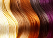 canvas print picture - Hair Colors Palette