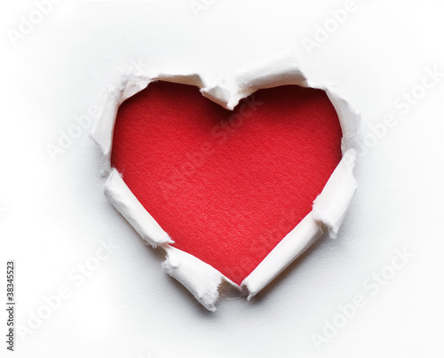 Valentine Heart Card Design - 38345523