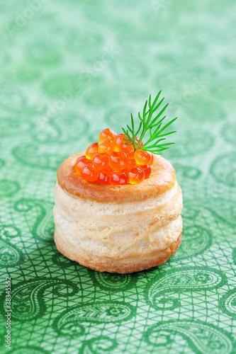 Vol-au-vent with caviar