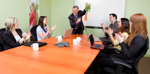 The great motivator dangling carrots to motivated staff