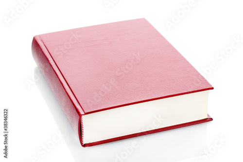 Big red book isolated on white