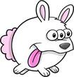 Alien Bunny Rabbit Vector Illustration