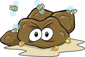 Hard Poop Turd Vector Illustration