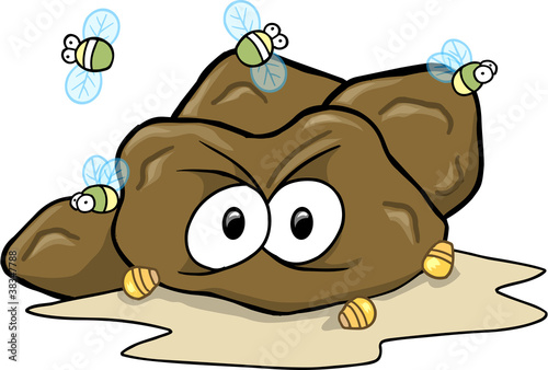 Hard Poop Turd Vector Illustration