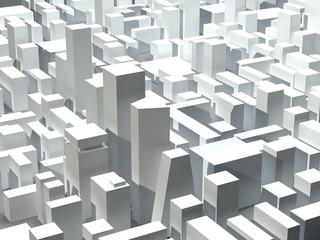 Glass scyscrapers in modern district
