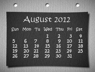 calendar 2012 on fabric craft