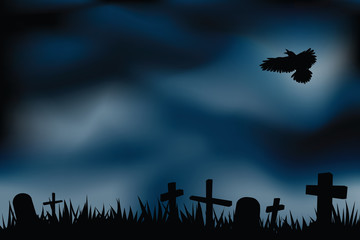 cemetery illustrations