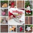 Rustikale natürliche Weihnachtsmotive