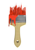 Urban art paint brush
