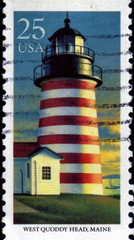 West Quoddy Head, Maine. US Postage.
