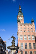 Town Hall and Neptune Fountain in Gdansk