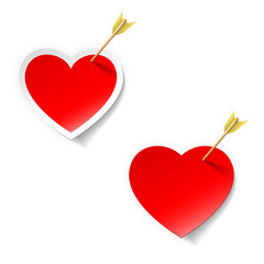 heart with arrow sticker