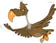 American condor. Cartoon
