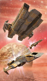 spaceship fighters and alien planet