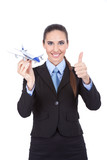businesswoman employed in the airline agency poster