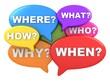Questions multicolour