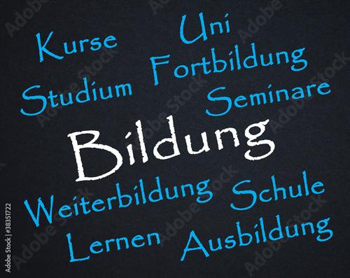 Poster Bildung, Symbol