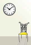 time passing, waiting concepts, doodle style illustrations poster