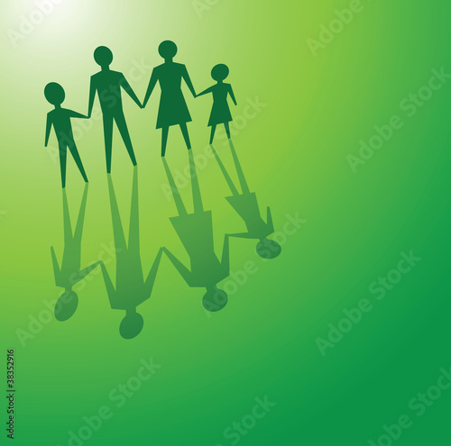 family in green concepts