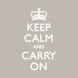 Постер, плакат: KEEP CALM & CARRY ON Duck Egg