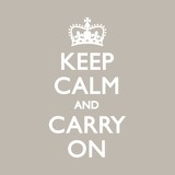 KEEP CALM & CARRY ON Duck Egg poster