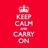 Fototapety KEEP CALM & CARRY ON Duck Egg