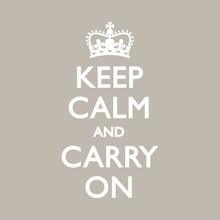 KEEP CALM & CARRY ON Duck Egg