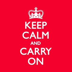 KEEP CALM & CARRY ON Duck Egg