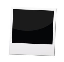 polaroid photo frame or border, vector