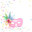 Mardi-Gras or Carnival background. Venetian Mask.