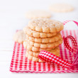 Pile of crunchy biscuits