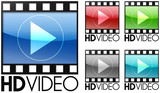 HD Video Web Button