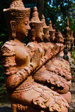 Thepha Thai temple statues