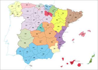 Spanien Postleitzahlen, códigos postales