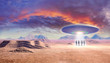 ufo and aliens in the desert
