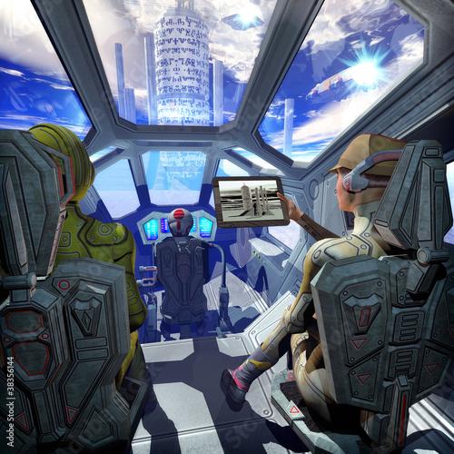 wnetrze-statku-kosmicznego-i-obca-planeta