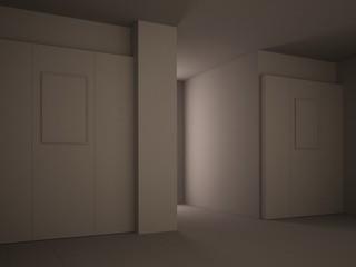 Minimal 3d interior gessato