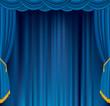 blue velvet stage