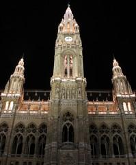 Main facade of Viennas Town hall, Austria