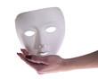 mano con maschera