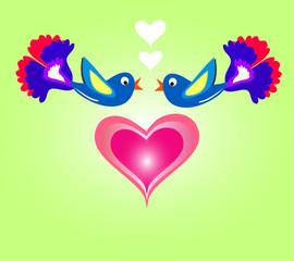 Влюбленные птицы